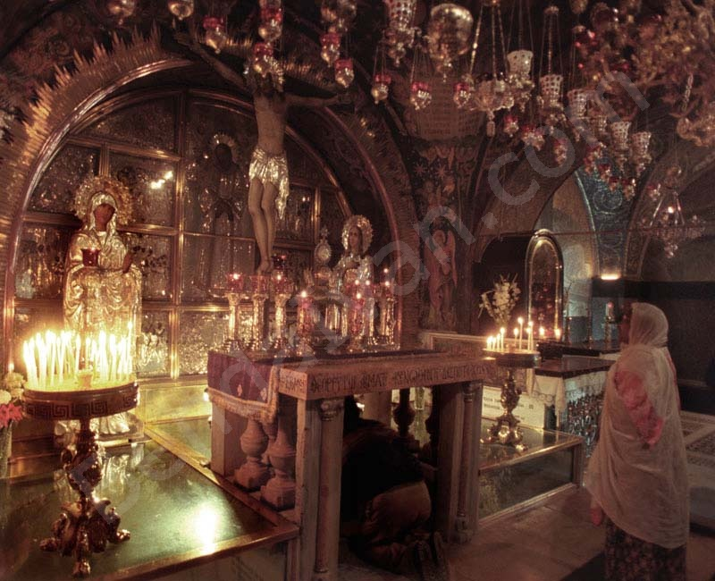 Golgotha Chapel. Church of the HolySepulchre. Jerusalem.