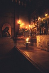 Tomb of Christ. is the mortuary chamber and the last station of the Via Dolorosa. A marble slab about two meter  long covers the bathtub type tomb Wich hhich had been donated by Jeseph of Arimathea. A
