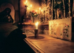 The Living Jerusalem The Tomb of Jesus. The fourteenth station. Jerusalem HolySepulchre, Israel. Holy land.