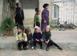 Holyland, Jerusalem Mea Shearim. Ultraorthodox jews kinders