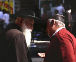This quarter is home to the most ultra orthodox of Jews, some so exteme in their views that thay do not recognise the modern State of Israel because it is not  a theocracy.