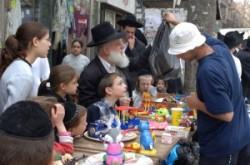 Shopping on the Street. This the play Mea Shearim Jews orthodox quarter.