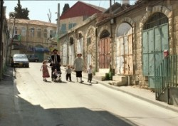 Mea She'arim ultra ortodox of Jews quarter in Jerusalem,