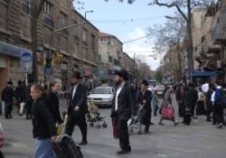 Holyland, Israel, Jerusalem Mea Shearim ultraorthodox, ultraortodox jews quarter, weekday.