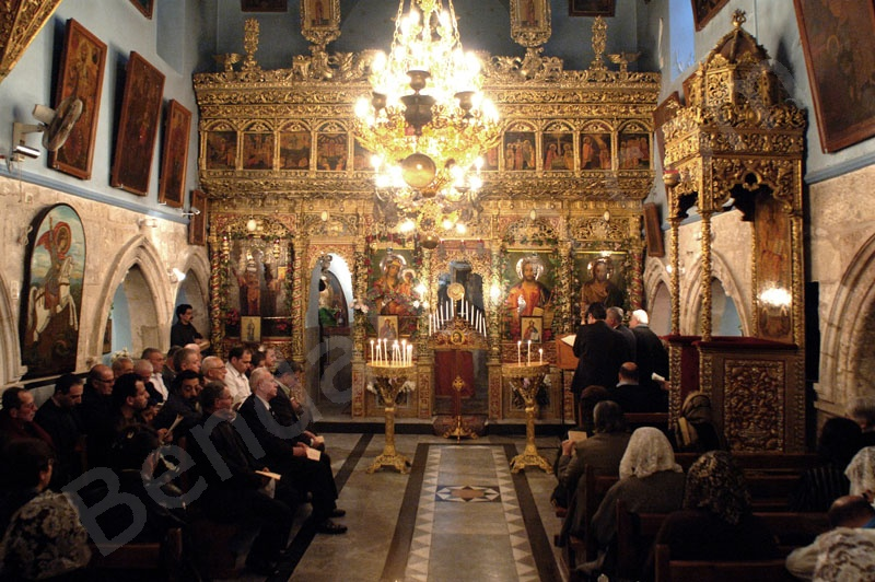 Holy Land_Holy Prison_Tomb of Christus_Golgotha_Easter in the saint Jakab chapel_Greek orthodox_in the Holy Sepulcher_
