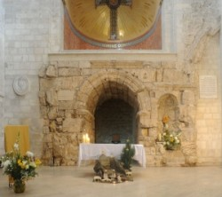 The Way of Sorrow, Second station: The Chapel of the Flagellation where tradition holds that Jesus was  interrogated by Pilate. This modest chapel was built on the site of a Crusader oratory.