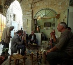 Holy Land_Holy Prison_suk_Golgotha_Roman Catholics_Greek orthodox_Chapel of Adam in the Holy Sepulcher_arab cafe