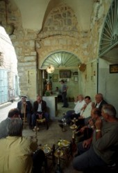 arab_cafe_Tomb of Christus_Golgotha_Roman Catholics_Greek orthodox_Chapel of Adam in the Holy Sepulcher_